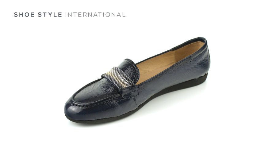 Hispantias BHV 98846 Slip on Closed Toe Flat Shoe in Navy, Ireland Shoe Shops online, Shoe Style International, Location Wexford Gorey, Ireland