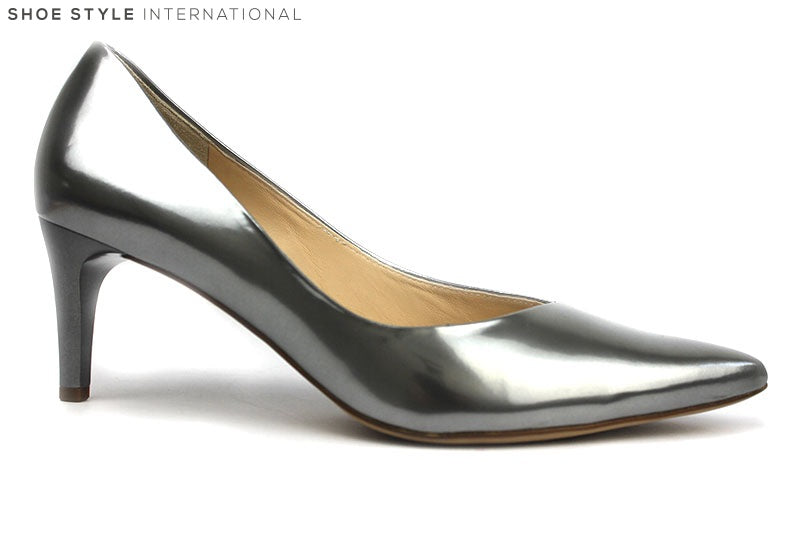 Hogl 10 63734 classic low heel with pointed toe, colour pewter, shoe style international Wexford Gorey Ireland