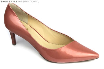 Hogl 10 6735 Classic mid heel shoe with pointed toe. Colour Peach, shoe style International Wexford Gorey Ireland