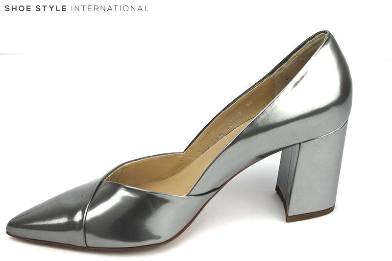 Hogl 10 7506 classic block high heel, colour pewter, shoe style international Wexford Gorey Ireland