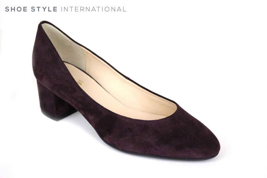 Hogl 4002, Hogl Shoes, Classic Low Heel Pump Shoe, Colour Dark Plum, Shoe Style International, Wexford, Gorey, Ireland