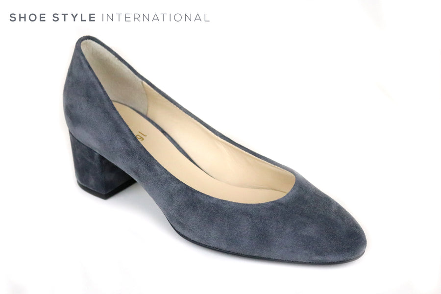 Hogl 4002, Hogl Shoes, Low Heel Pump Court shoe, Colour Grey. Shoe Style International, Occasion Wear Shoes, Wexford, Gorey, Ireland