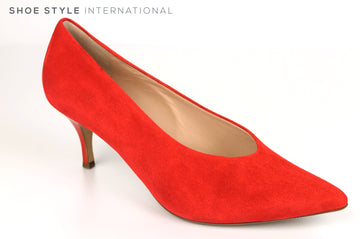 Hogl 6120, Medium Heel Slip On Shoe with a pointed toe in Red, Ireland Shoe Shops online, Shoe Style International, Location Wexford Gorey, Ireland