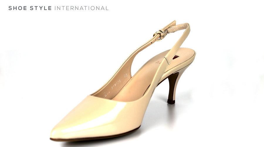 Hogl 6214 Colour Nude Slingback Medium Heel with a Pointed toe in Patent Leather, Ireland Shoe Shops online, Shoe Style International, Location Wexford Gorey, Ireland