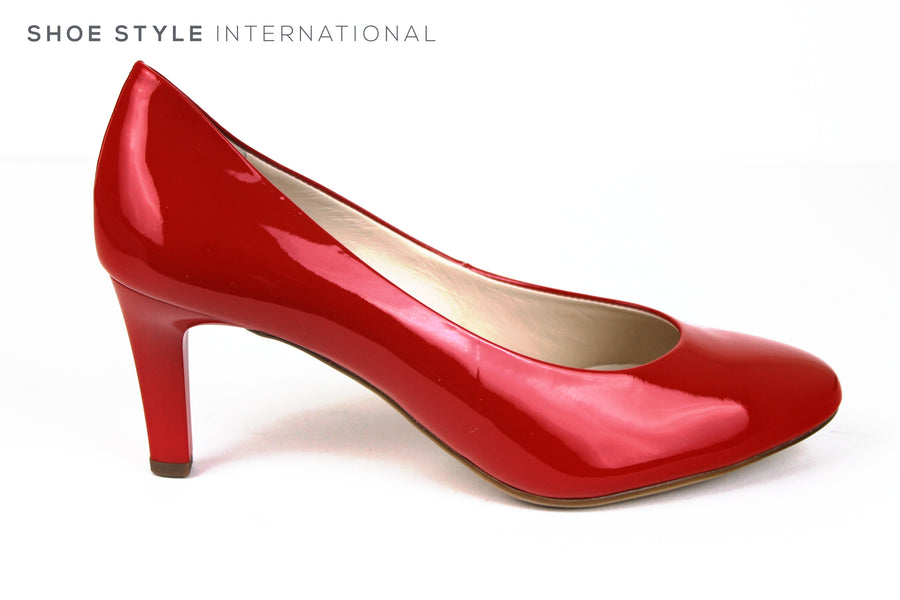 Hogl 6004, Classic Medium Heel with a closed toe and Almond shape toe shape, Colour Red, Ireland Shoe Shops online, Shoe Style International, Location Wexford Gorey, Ireland