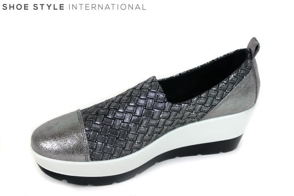 Igi & Co 1145100 slip-on wedge shoe, colour pewter Shoe Style International Wexford Gorey Ireland