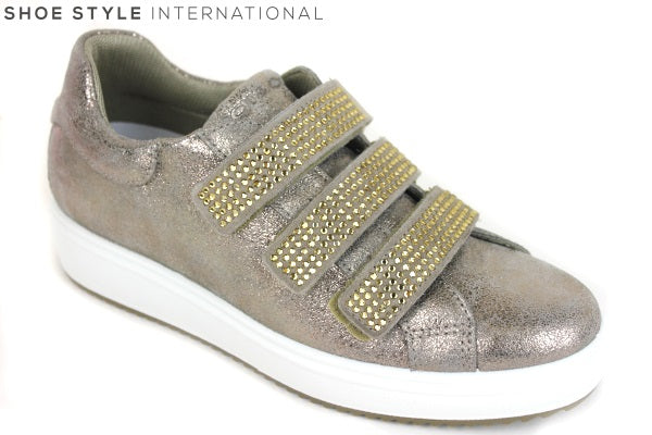 Igi & Co 1148833 shoe with diamante detail on Velcro fastening, colour Taupe shoe style international Wexford Gorey Ireland