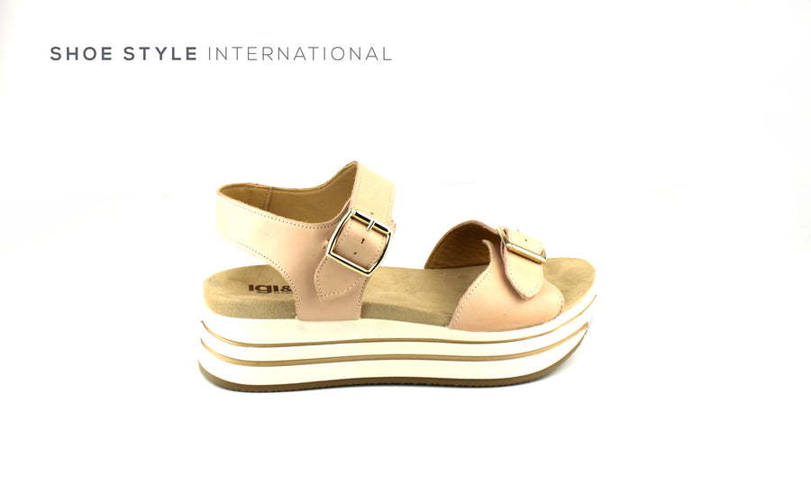 Igi & Co Open Toe Platform Sandal with Buckle Straps to close, Shoe_Style_International-Wexford-Gorey-Ireland