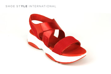 Inuovo 115005 Red Mettalic Sporty Slip-on Sandal, Shoe Style International Wexford Gorey Ireland, Online Shoe Shopping Ireland