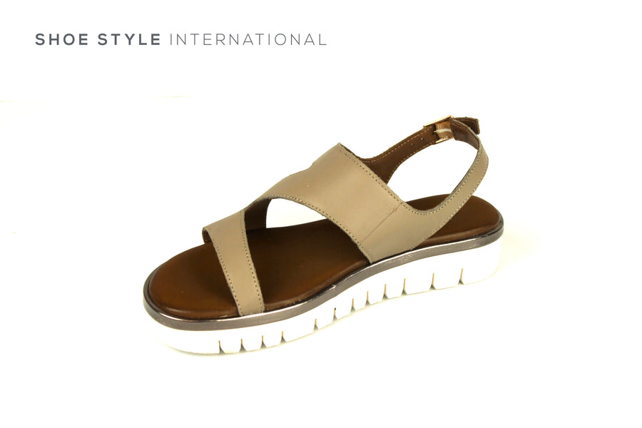 Inuovo Shoes, Inuovo Sandals, Open Toe Sandal in Grey, Shoe Style International Wexford Gorey Ireland