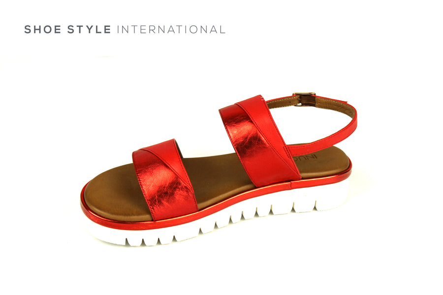 Inuovo Sandals, Inuovo 129006 Tan Open Toe Sandal with Ankle Strap Closing. Shoe Style International, Online Shoes in Ireland, Location Wexford and Gorey Ireland