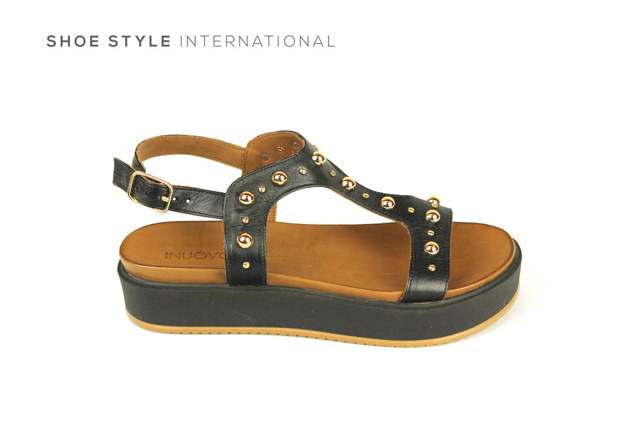 Inuovo Sandals, Inuovo Shoes, Open Toe Sandals in Black, Shoe Style International Location Wexford Gorey Ireland,
