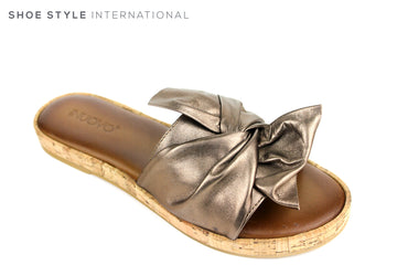 Inuovo 8266, Slider with bow detail, Slide into this wonderful colour bronze slider with a bronze bow at the front. Shoe Style International