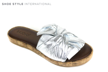 Inuovo 8266, Slider with bow detail, Slide into this wonderful colour Silver slider with a Silver bow at the front. Shoe Style International