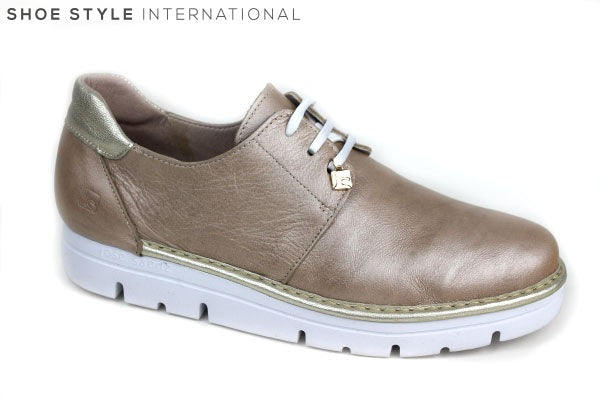 Jose Sanez 2000, laceup full leather shoe, colour: Taupe Shoe Style International Wexford Gorey Ireland