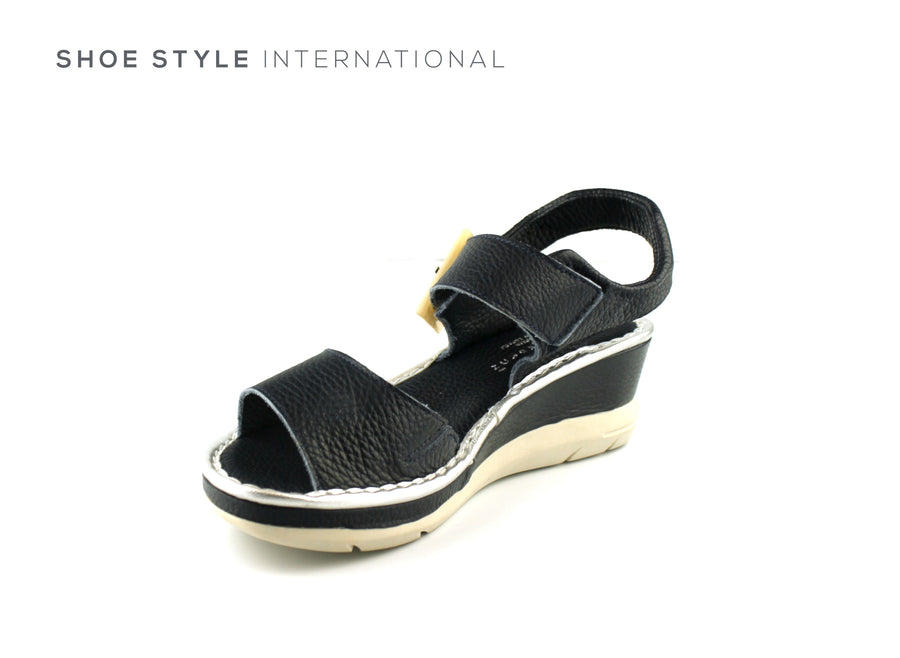 Jose Saenz  Shoes, Jose Saenz 4234 Navy Wedge Sandal,Shoe_Style_International-Wexford-Gorey-Ireland