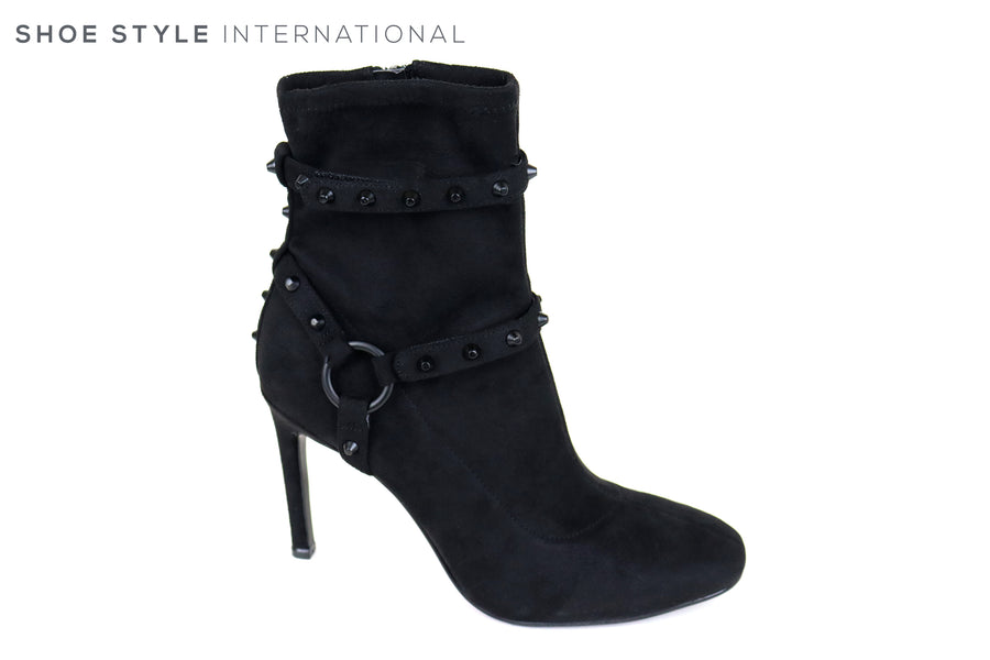 Kendall + Kyle Mimi,Black High Heel Stiletto Ankle Boot with Zip Closing, Occasion Wear Ireland Shoe Shops online, Shoe Style International, Location Wexford Gorey and Ireland
