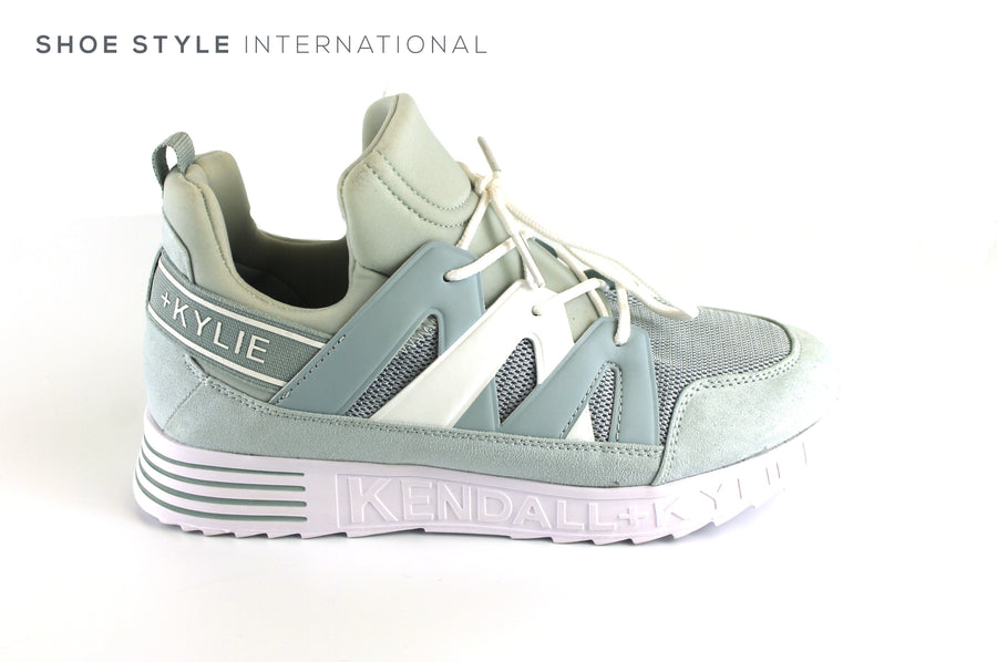 Kendall  + Kylie Low Top Sneaker with Laces to Close, Colour Light Blue White, Ireland Shoe Shops online, Shoe Style International, Location Wexford Gorey, Ireland
