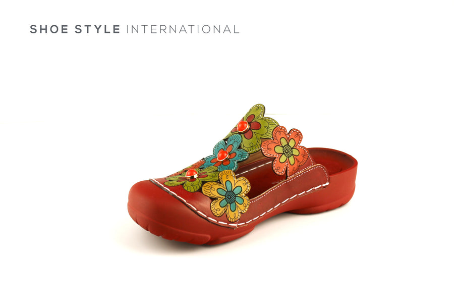Laura Vita Shoes Casual shoe with a Closed Toe, Colour Red, Shoe_Style_International-Wexford-Gorey-Ireland