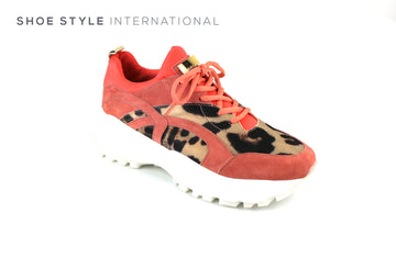 Le Babe 900V1 Lace Up Sneaker in Blush and Leopard Print Desgn,