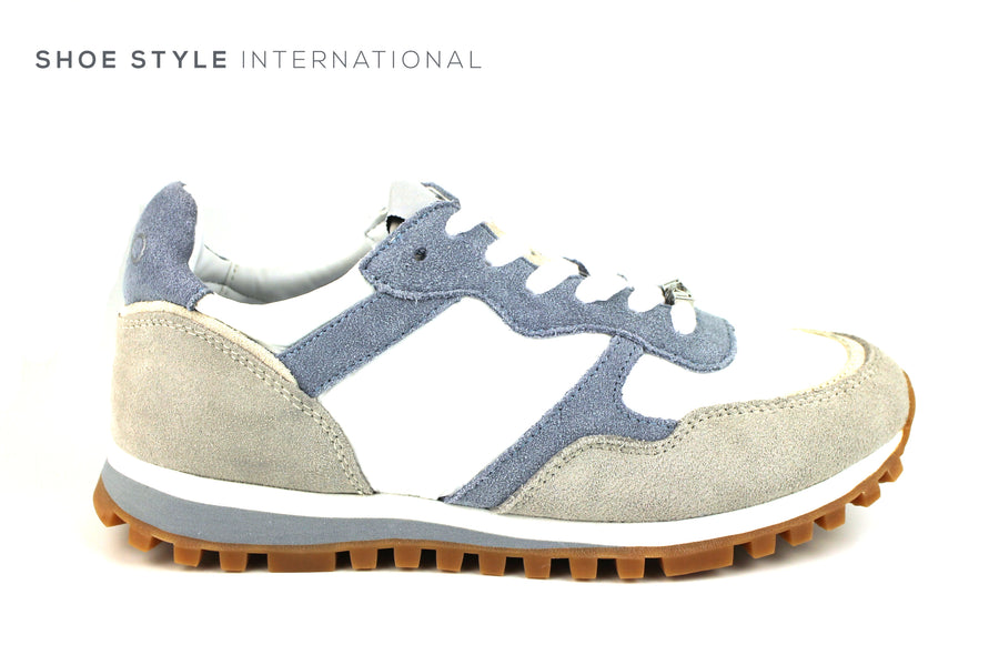 Liu Jo Alexa Running Fashion Trainers in Color Light Blue and Grey Ireland Shoe Shops online, Shoe Style International, Location Wexford Gorey, Ireland