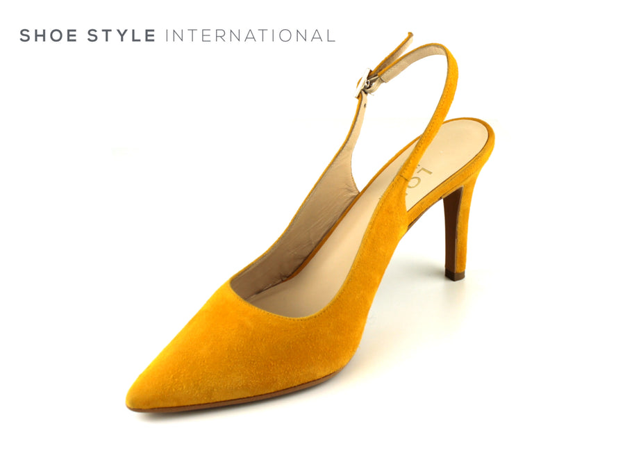 Lodi Shoes, High Heel Slingback, closed Toe, Mustard Colour, Shoe_Style_International-Wexford-Gorey-Ireland