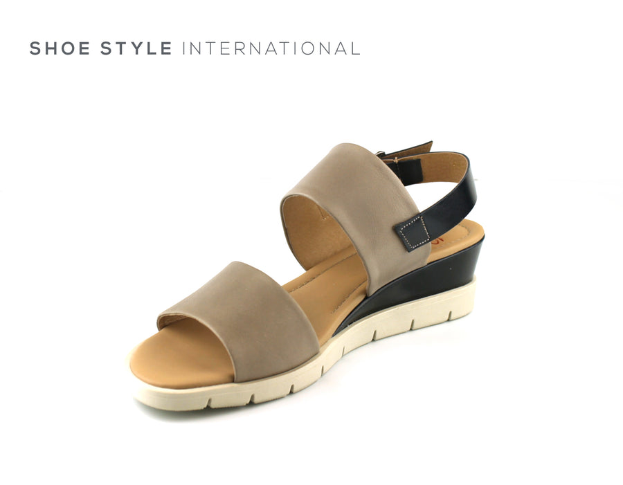 Luis Gonzalo Shoes, Luis Gonzalo 4855 Nude and Navy Open Toe Wedge Sandal, Shoe Shops online, Shoe_Style_International-Wexford-Gorey-Ireland