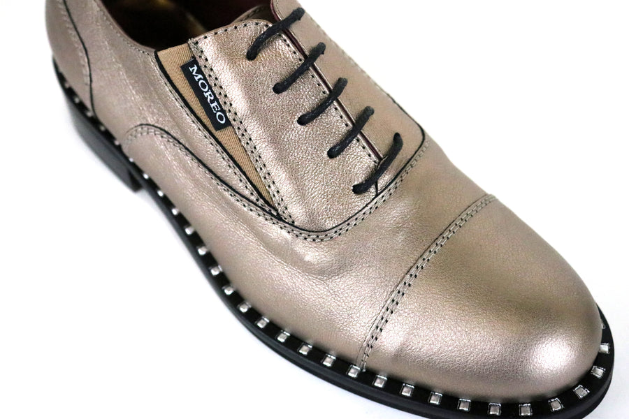 Marco Moreo 600, Flat Lace-up brogue with Trim detail around the top of the sole unit, Colour Metallic Gold,  Ireland Shoe Shops online, Shoe Style International, Location Wexford Gorey and Ireland