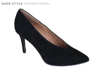 Marian 3701, Black Suede High Heel Court Shoe with a Pointed toe, Ireland Shoe Shops online, Shoe Style International, Location Wexford Gorey and Ireland