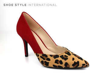Marian 3821 Pointed toe high heel Court Shoe with Leopard print desing and red suded at the back of the shoe, Spring-Summer-2019 -Shoe_Shops-online-Shoe_Style_International-Wexford-Gorey-Ireland
