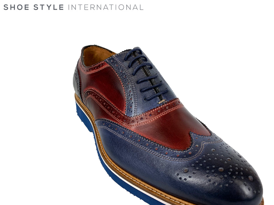 Mercanti 06650 Navy & Burgundy (blue sole)