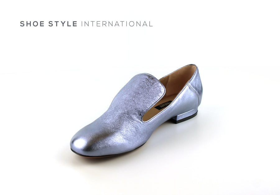 Oxitaly Genia, Low Heel Pumps in Colour Mettalic Sky Blue, Shoe_Style_International-Wexford-Gorey-Ireland