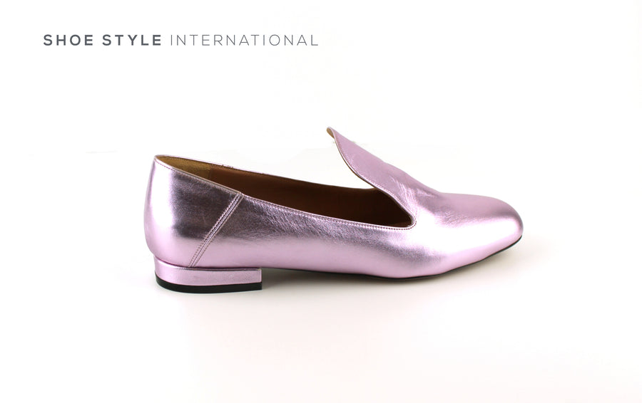 Oxitaly Genia, Low Heel Pumps in Colour Mettalic Lilac, Shoe_Style_International-Wexford-Gorey-Ireland