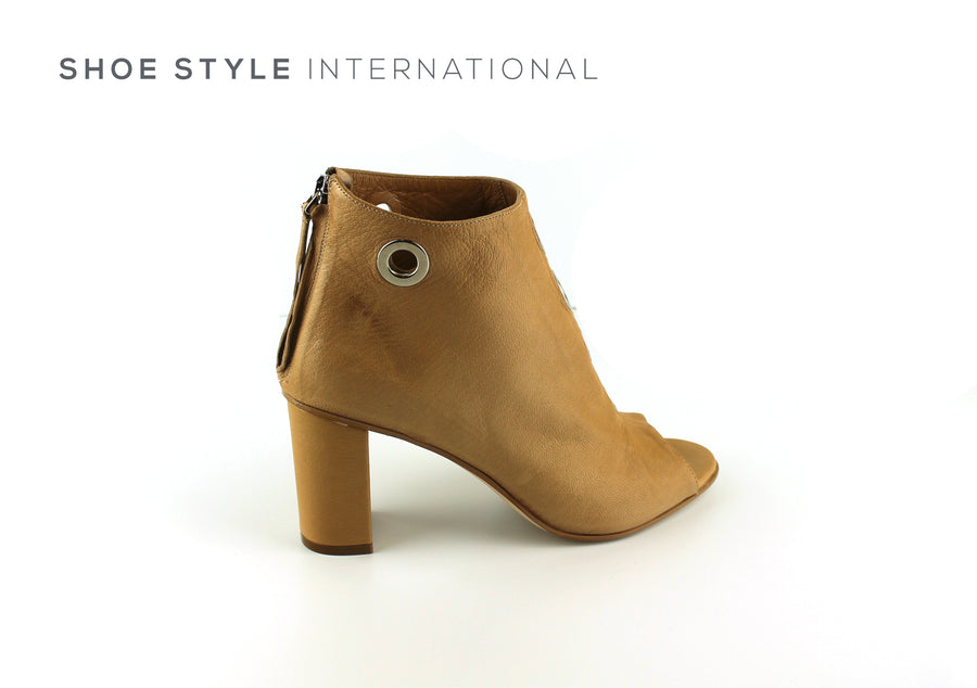 Oxitaly Solemme 24, Shoe Boot with Peep Toe in Colour Nude Shoe_Style_International-Wexford-Gorey-Ireland