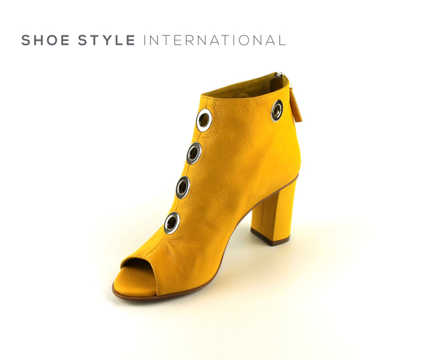 Oxitaly Solemme 24, Shoe Boot with Peep Toe in Colour Mustard Shoe_Style_International-Wexford-Gorey-Ireland