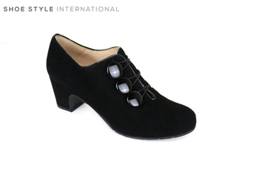 Perlato 10220, Classic Shoe Boot with large button detail on the side, Colour Black, Autumn Winter Stock 2018, Shoe Style International, Wexford, Gorey, Ireland