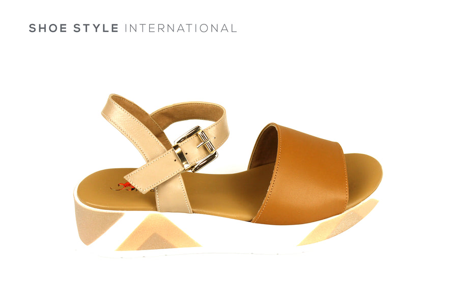 Repo Sandals, Repo Shoes, Repo 10202 Tan Wedge Open Toe Sandal, Shoe Style International Wexford Gorey Ireland, Shoes online Ireland