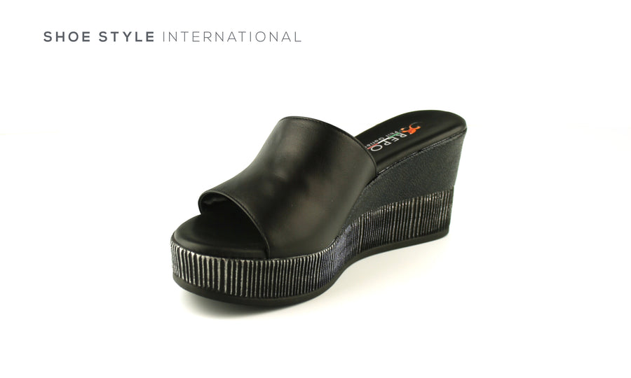 Paul Gatier by Repo Shoes, Repo 51226 Black Wedge Platform Open Toe Slider, Shoe_Style_International-Wexford-Gorey-Ireland