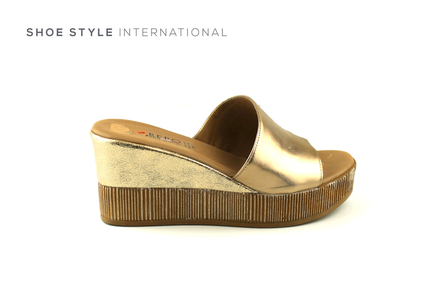 Paul Gatier by Repo Shoes, Repo 51226 Gold Wedge Platform Open Toe Slider, Shoe_Style_International-Wexford-Gorey-Ireland