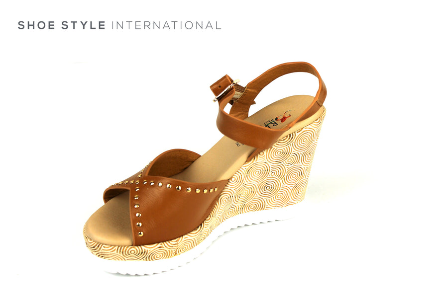 Repo Sandals, Repo Shoes, Repo 52284 Tan Wedge Open Toe Sandal, Shoe Style International Wexford Gorey Ireland, Shoes online Ireland
