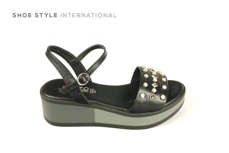 Repo Sandals, Repo Shoes, Repo 54293 Black Wedge Open Toe Sandal, Shoe Style International Wexford Gorey Ireland, Shoes online Ireland