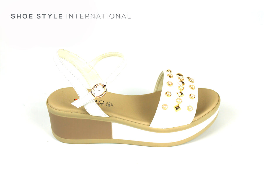 Repo Sandals, Repo Shoes, Repo 54293 White Wedge Open Toe Sandal, Shoe Style International Wexford Gorey Ireland, Shoes online Ireland