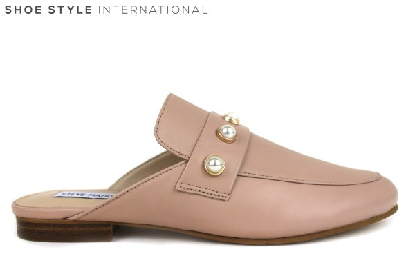 Steve Madden Irenne, Mule with pearl detail at the front of the shoe. Colour Blush, Shoe Style International Wexford, Gorey, Ireland