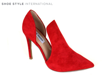 Steve Madden Dance Red Suede High Heel Mule with Pointed toe,Ireland Shoe Shops online, Shoe Style International, Location Wexford Gorey, Ireland
