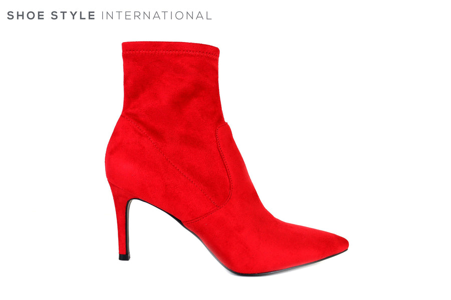 Steve Madden Lava Red Ankle Boots with Pointed toe and side Zip Closure,Ireland Shoe Shops online, Shoe Style International, Location Wexford Gorey, Ireland