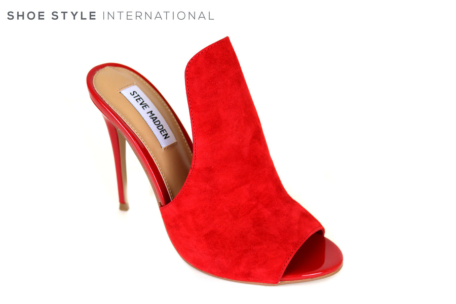 e678dad473e Steve Madden Sinful Peep Toe High Heel Red Suede – Shoe Style ...
