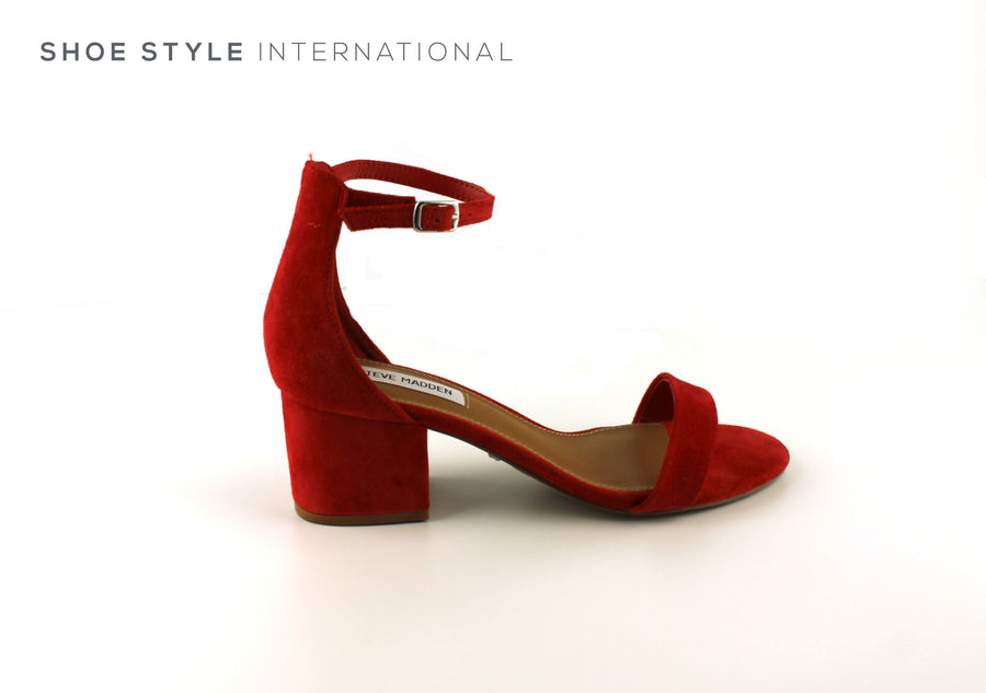 Steve Madden Shoes low heel sandals with ankle strap in Red, Shoe_Style_International-Wexford-Gorey-Ireland