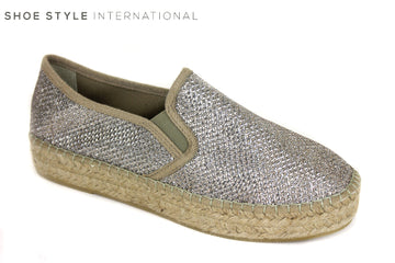 Toni Pons Fonda Espradrille shoes, Colour Gold from Shoe Style International Wexford Gorey Ireland