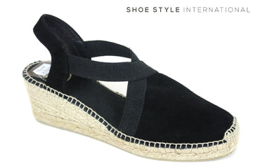 Tona Pons Tona Espadrille with ankle strap Wedge Colour Black, Suede Upper Fabric lining Shoe Style International Wexford Gorey Ireland