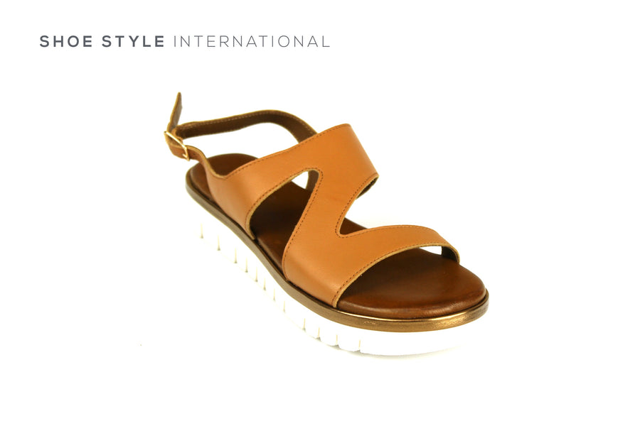 Inuovo Shoes, Inuovo Sandals, Open Toe Sandal in Tan, Shoe Style International Wexford Gorey Ireland